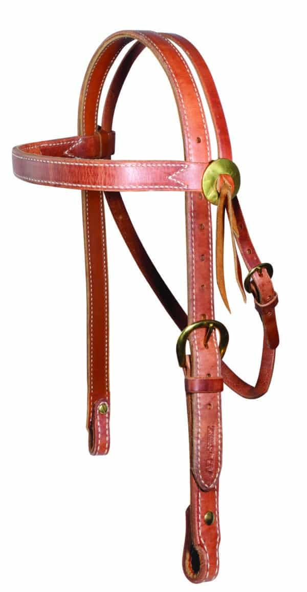 Heavy Brow Snaffle Headstall – Al Dunning collection by PC Schutz