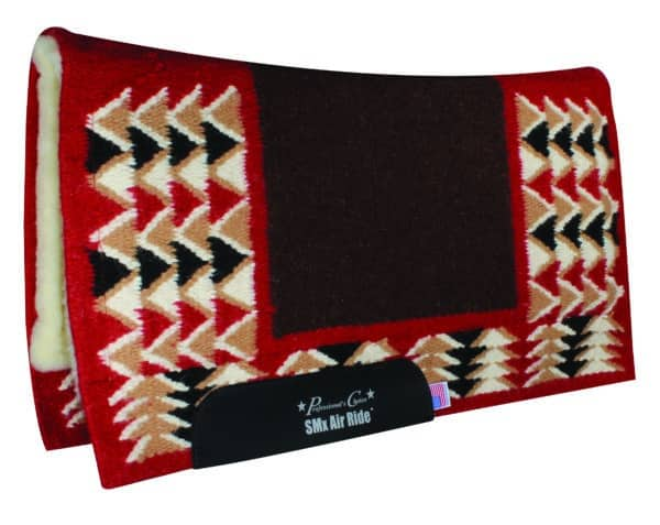 comfort-fit-smx-hd-air-ride-western-pad-sharp-barona-pattern-chocolate-crimson-1