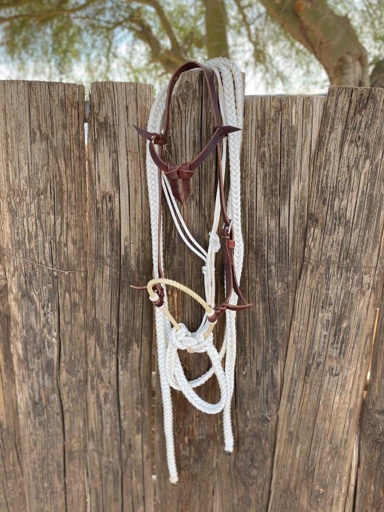 rope hackamore lope rope